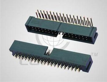 """Разъем """"вилка"""" 8 конт. (2x4) шаг 2.54 мм, пр.уг. на плату (ан. BH-8R/ IDC-08MR) Connfly DS1013-08 RSIB - DS1013-08 RSIB"""