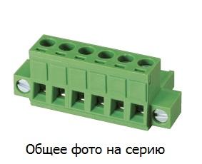 """Клеммник 6 конт. """"гнездо"""" шаг 5.00 мм (с боков …"""