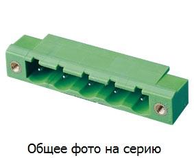 "Клеммник 2 к. ""вилка"" шаг 7.62 мм с бок.резьб. …"