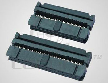 "Разъем IDC ""гн."" 40 к.(2x20) ш. 2.54 мм, на шл …"