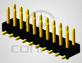 Штыри 2x40 конт. шаг 2.00 мм, SMT на пл., Hк. = 4.0 мм ( …