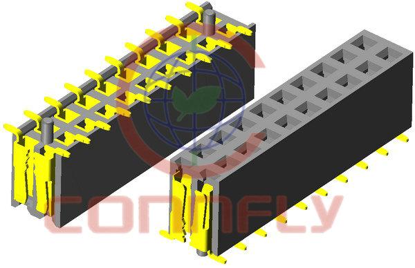 "Разъем ""гнездо"" 10 конт.(2x5) шаг 2.54 мм, SMT …"