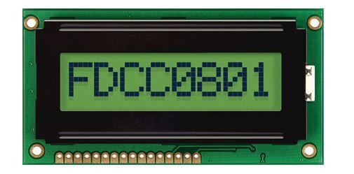 Монохромный ЖКИ FordataElectronics FC0801A01-FHYYBW-51SR
