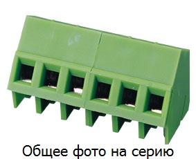 Клеммник 2 конт. шаг 5.00 мм, на плату (каб. ввод 45 гра …