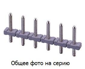 Штыри 20 конт. шаг 5.00 мм, вертик. на пл. (для клеммн.  …