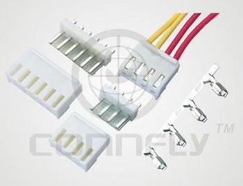 """Разъем пит./с. """"вилка"""" 4 конт. (1x4) ш. 3.96 мм VH, верт. на пл. (ан. PWL2-04) Connfly DS1073-4 MVW6 - DS1073-4 MVW6"""