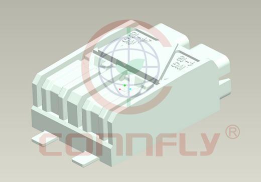 Клеммник 3 конт. шаг 4.00 мм зажимн., пр. 24-18AWG (SMT гориз. на плату) Connfly DS1137-10-03 FA6R - DS1137-10-03 FA6R