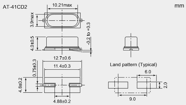 Кварцевый резонатор SMD NDK AT-41CD2-11.0592MHz S1-4085- …