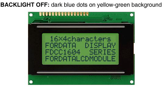 FordataElectronics FC1604A04-FSWYBW-91LR