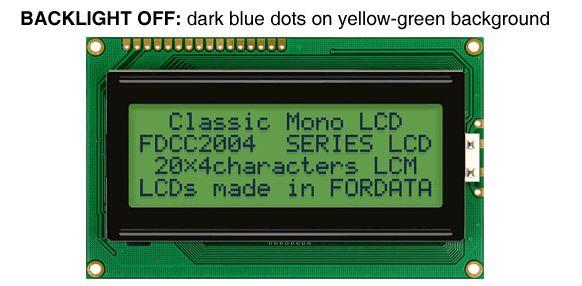 Монохромный ЖКИ FordataElectronics FC2004D01-FHWFBW-51SR