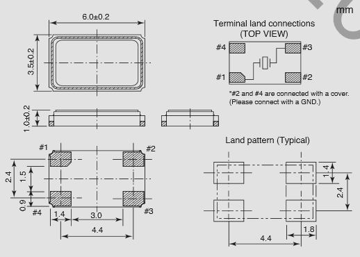 Кварцевый резонатор SMD NDK NX6035SA-S1-2020-4085-18-16. …