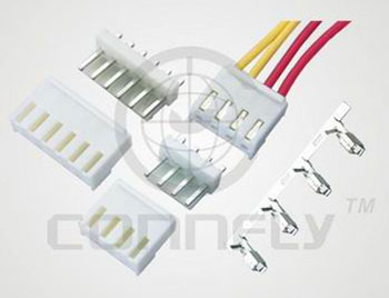 "Колодка ""гнездо"" 4 к. (1x4) шаг 3.96 мм VH, на каб. (ан. PHU2-04* без конт.) Connfly DS1073-4 FCW - DS1073-4 FCW"
