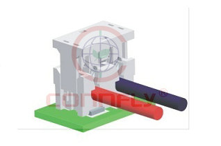 Разъем 2 конт. шаг 4.00 мм (прорезн., пр. 18AWG/ 0.75 кв.мм), SMT верт. Connfly DS1137-06-02 FA618AR - DS1137-06-02 FA618AR